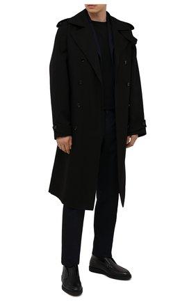 Мужские кожаные ботинки SANTONI черного цвета, арт. MGDG17823NERANWLN01 | Фото 2
