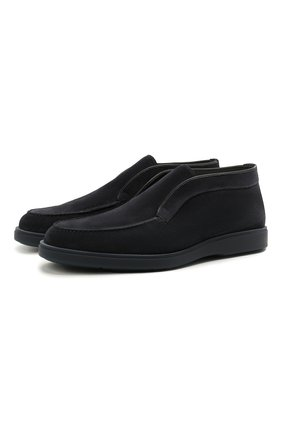 Мужские замшевые ботинки SANTONI темно-синего цвета, арт. MGDT1782300TASVUU60 | Фото 1