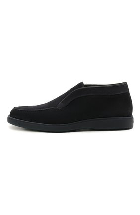 Мужские замшевые ботинки SANTONI темно-синего цвета, арт. MGDT1782300TASVUU60   Фото 3 (Мужское Кросс-КТ: Ботинки-обувь, зимние ботинки; Подошва: Плоская)