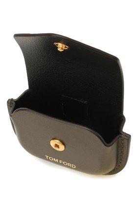 Кожаный чехол для airpods pro TOM FORD хаки цвета, арт. Y0304T-LCL121   Фото 3 (Женское Кросс-КТ: Кожа AirPods)