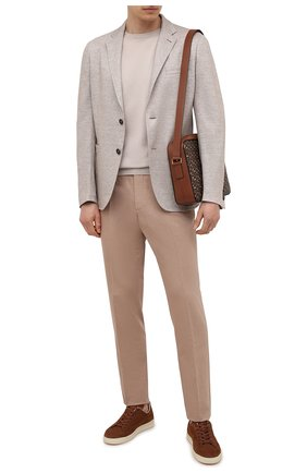 Мужские кожаные кеды TOM FORD коричневого цвета, арт. J1045T-LCL133 | Фото 2
