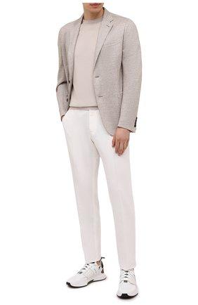 Мужские комбинированные кроссовки TOM FORD белого цвета, арт. J1100T-T0F001 | Фото 2