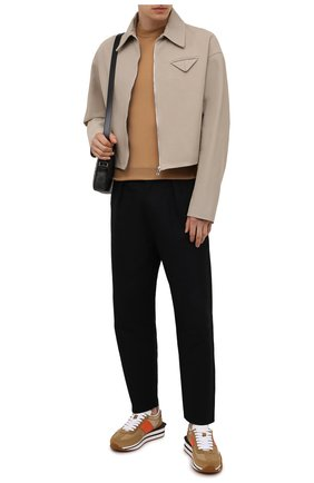 Мужские комбинированные кроссовки TOM FORD светло-коричневого цвета, арт. J1292T-LCL134 | Фото 2