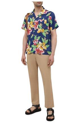 Мужская хлопковая рубашка POLO RALPH LAUREN разноцветного цвета, арт. 710842892/5396 | Фото 2