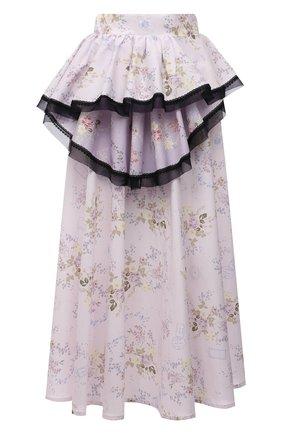 Женская хлопковая юбка ULYANA SERGEENKO светло-розового цвета, арт. GNM001SS21Resort (0451т21) | Фото 1
