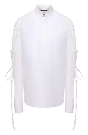Женская хлопковая рубашка DANIILBERG белого цвета, арт. BL006 | Фото 1