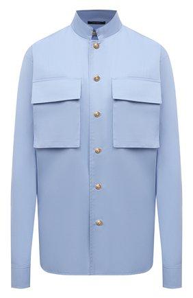 Женская хлопковая рубашка DANIILBERG голубого цвета, арт. BL002.20 | Фото 1