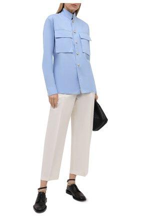 Женская хлопковая рубашка DANIILBERG голубого цвета, арт. BL002.20 | Фото 2
