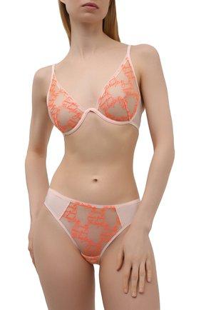 Женский бюстгальтер с мягкой чашкой SIMONEPERELE оранжевого цвета, арт. 19V308 | Фото 2