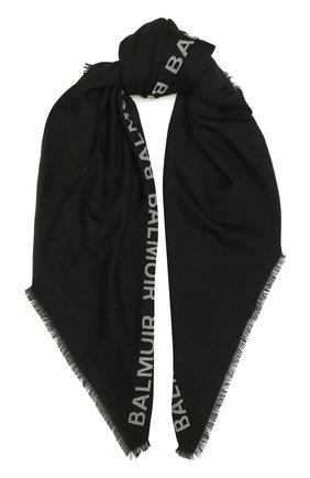 Женская шаль logo BALMUIR черного цвета, арт. 2110011   Фото 1