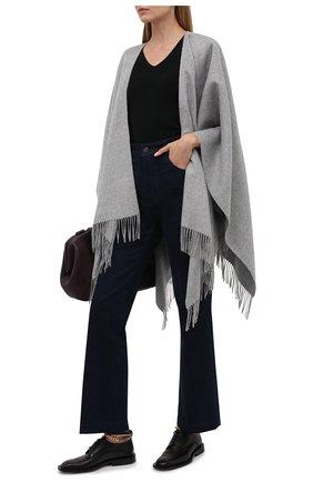 Женская шерстяная шаль lucca BALMUIR серого цвета, арт. 130102   Фото 2