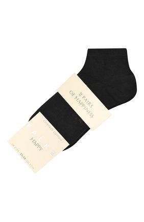 Женские комплект из двух пар носков FALKE темно-синего цвета, арт. 46418 | Фото 1 (Материал внешний: Хлопок)