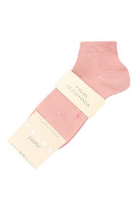 Женские комплект из двух пар носков FALKE розового цвета, арт. 46418 | Фото 1 (Материал внешний: Хлопок)