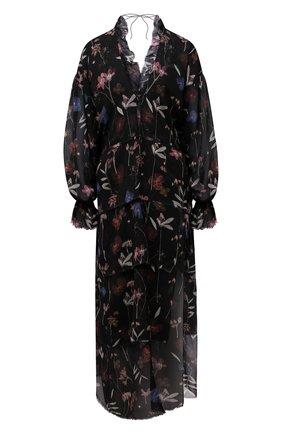 Женское шелковое платье RUBAN черного цвета, арт. RPSU21-10.1.51.0.20   Фото 1