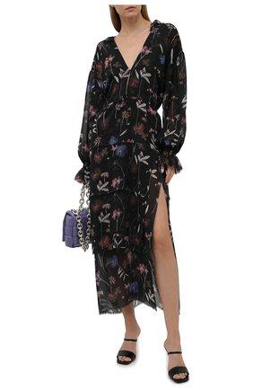 Женское шелковое платье RUBAN черного цвета, арт. RPSU21-10.1.51.0.20   Фото 2