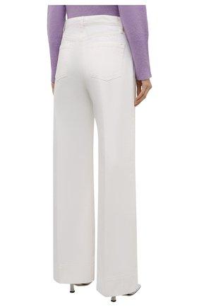 Женские джинсы FRAME DENIM белого цвета, арт. MPJ171   Фото 4 (Силуэт Ж (брюки и джинсы): Широкие; Длина (брюки, джинсы): Стандартные; Материал внешний: Хлопок, Деним; Стили: Кэжуэл)