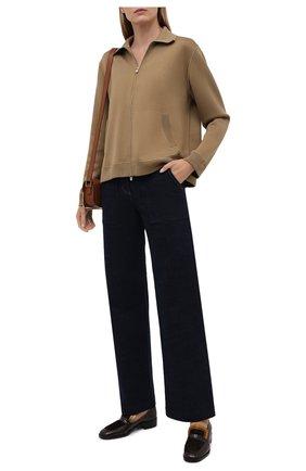 Женские кожаные лоферы eleonara LORO PIANA коричневого цвета, арт. FAL7829 | Фото 2