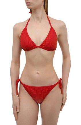Женский раздельный купальник FENDI красного цвета, арт. FXB974 AES6 | Фото 2