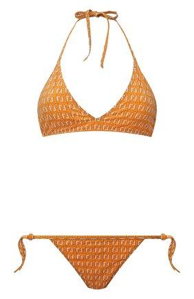 Женский раздельный купальник FENDI оранжевого цвета, арт. FXBH02 AESI | Фото 1