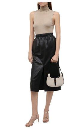 Женские кожаные босоножки GIANVITO ROSSI кремвого цвета, арт. G32063.70RIC.NAPM0US | Фото 2
