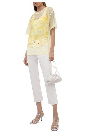 Женская футболка KENZO желтого цвета, арт. FB52TS6464PM | Фото 2 (Женское Кросс-КТ: Футболка-одежда; Стили: Спорт-шик; Длина (для топов): Стандартные; Материал подклада: Хлопок; Принт: С принтом; Рукава: Короткие; Материал внешний: Синтетический материал)