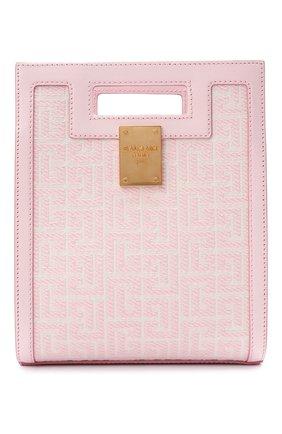 Женский сумка-тоут 1945 small BALMAIN светло-розового цвета, арт. WN1BK657/TJGH | Фото 1