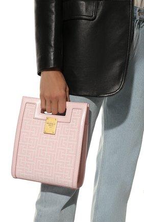 Женский сумка-тоут 1945 small BALMAIN светло-розового цвета, арт. WN1BK657/TJGH | Фото 2