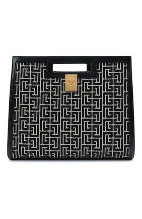 Женский сумка-тоут 1945 medium BALMAIN черно-белого цвета, арт. WN1BL658/TJGH | Фото 1