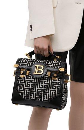 Женская сумка buzz 23 BALMAIN черно-белого цвета, арт. WN1DB599/TJGH | Фото 2