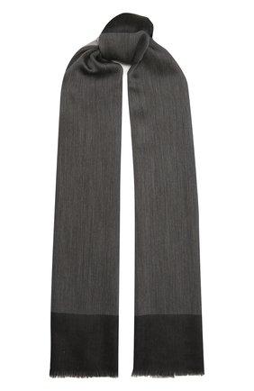 Женский шерстяной шарф GIORGIO ARMANI темно-серого цвета, арт. 795200/1A100 | Фото 1