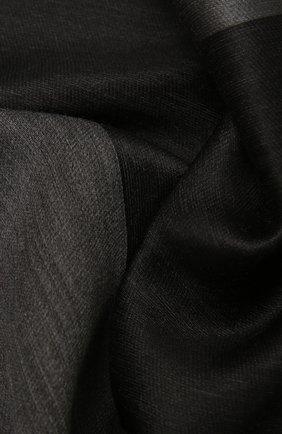 Женский шерстяной шарф GIORGIO ARMANI темно-серого цвета, арт. 795200/1A100 | Фото 2