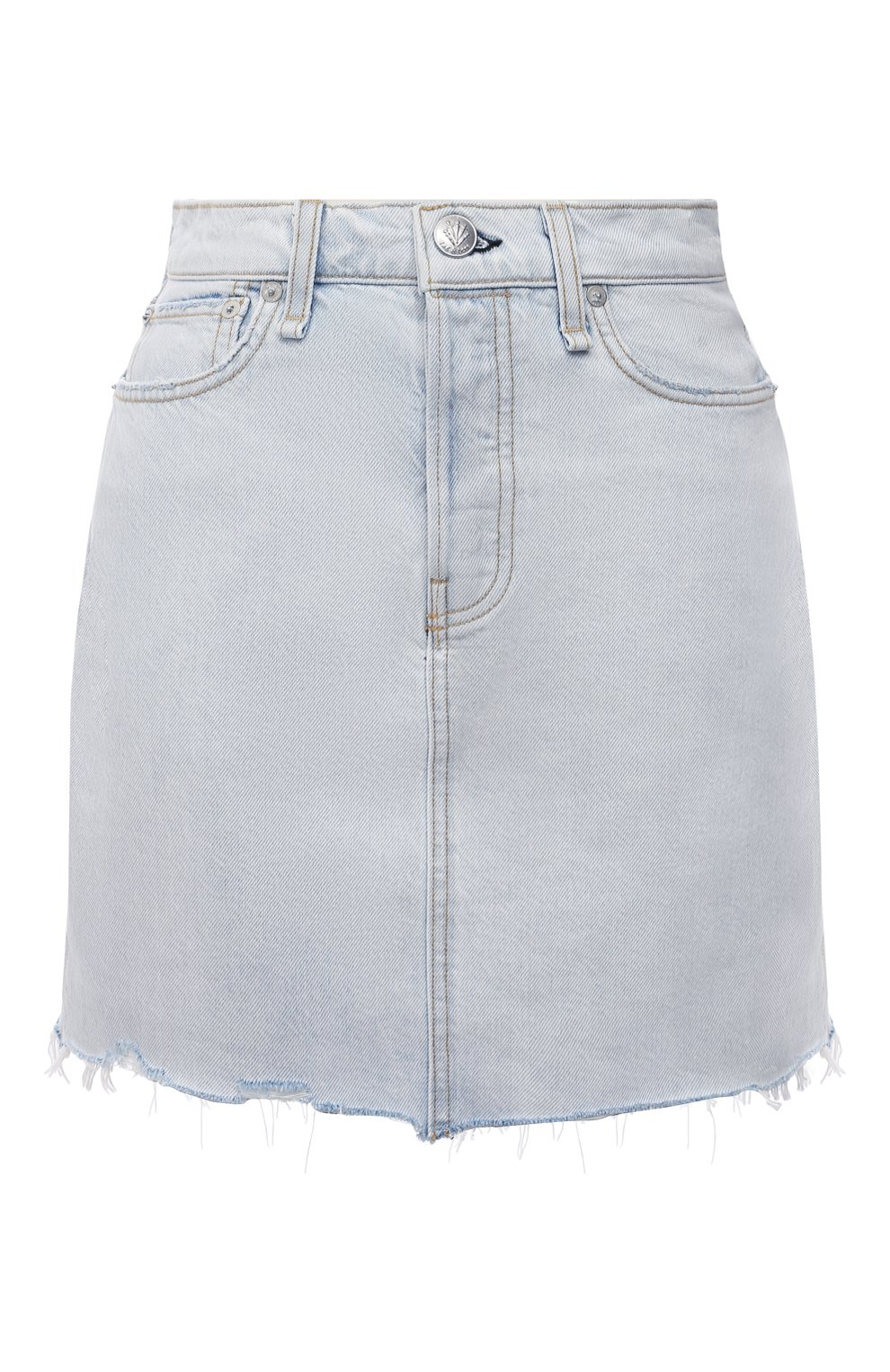 Женская джинсовая юбка RAG&BONE светло-голубого цвета, арт. WDD21S1B31B1RA | Фото 1