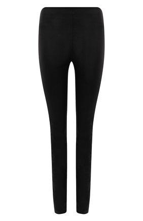 Женские кожаные леггинсы THEORY черного цвета, арт. J0100218 | Фото 1