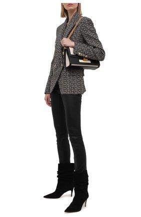 Женские кожаные леггинсы THEORY черного цвета, арт. J0100218 | Фото 2