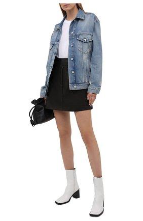 Женская джинсовая куртка ACNE STUDIOS голубого цвета, арт. A90341 | Фото 2