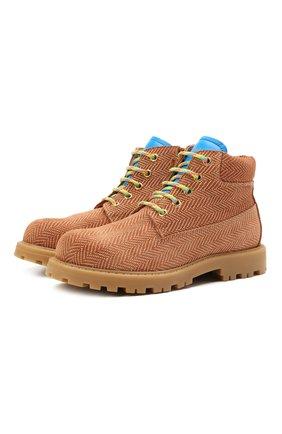 Детские кожаные ботинки RONDINELLA коричневого цвета, арт. 11200-7B/6393/31-33 | Фото 1