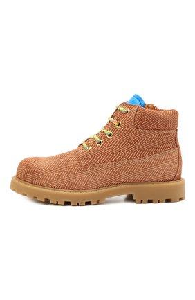 Детские кожаные ботинки RONDINELLA коричневого цвета, арт. 11200-7B/6393/31-33 | Фото 2