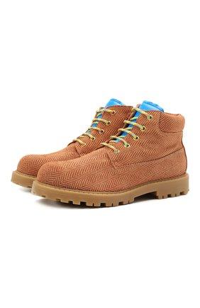 Детские кожаные ботинки RONDINELLA коричневого цвета, арт. 11200-7B/6393/40-42 | Фото 1