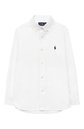 Детская хлопковая рубашка RALPH LAUREN белого цвета, арт. 322819238 | Фото 1