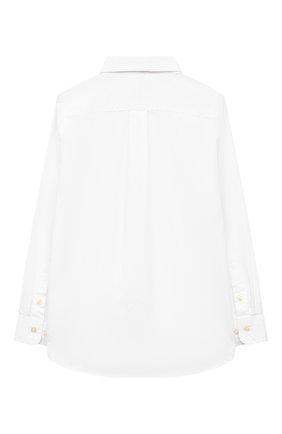 Детская хлопковая рубашка RALPH LAUREN белого цвета, арт. 322819238 | Фото 2
