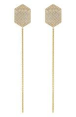 Женские серьга LITO бесцветного цвета, арт. E-L-016 | Фото 1 (Драгоценные камни: Бриллианты; Материал сплава: Желтое золото)