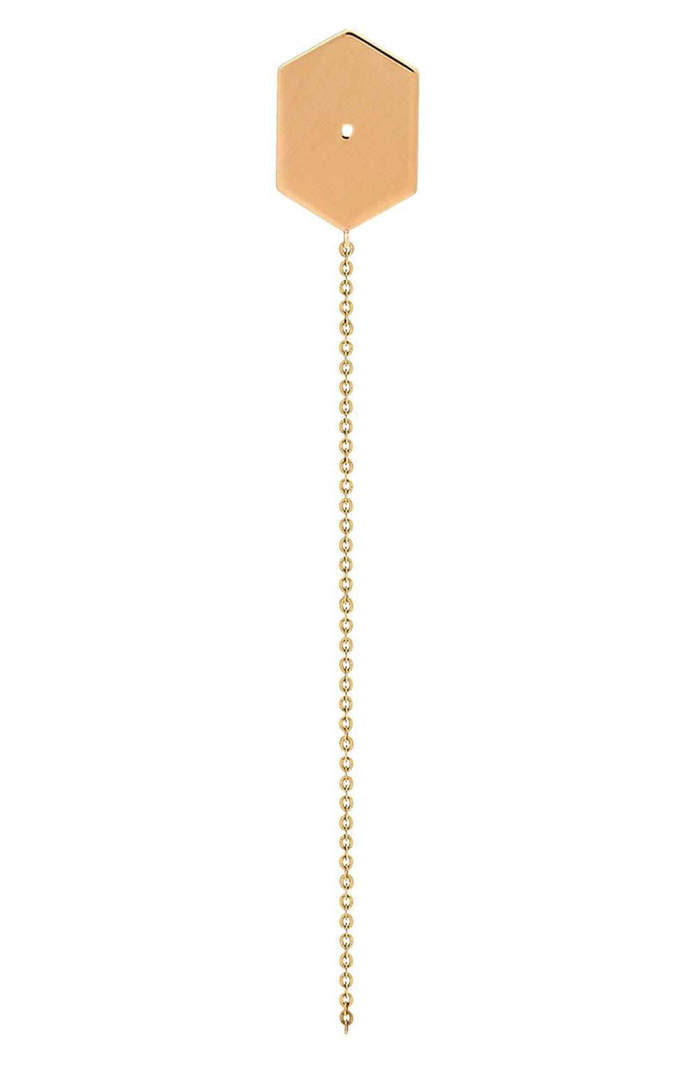 Женские серьга LITO бесцветного цвета, арт. E-L-017   Фото 1 (Материал сплава: Желтое золото, Розовое золото; Драгоценные камни: Без драгоценных камней)