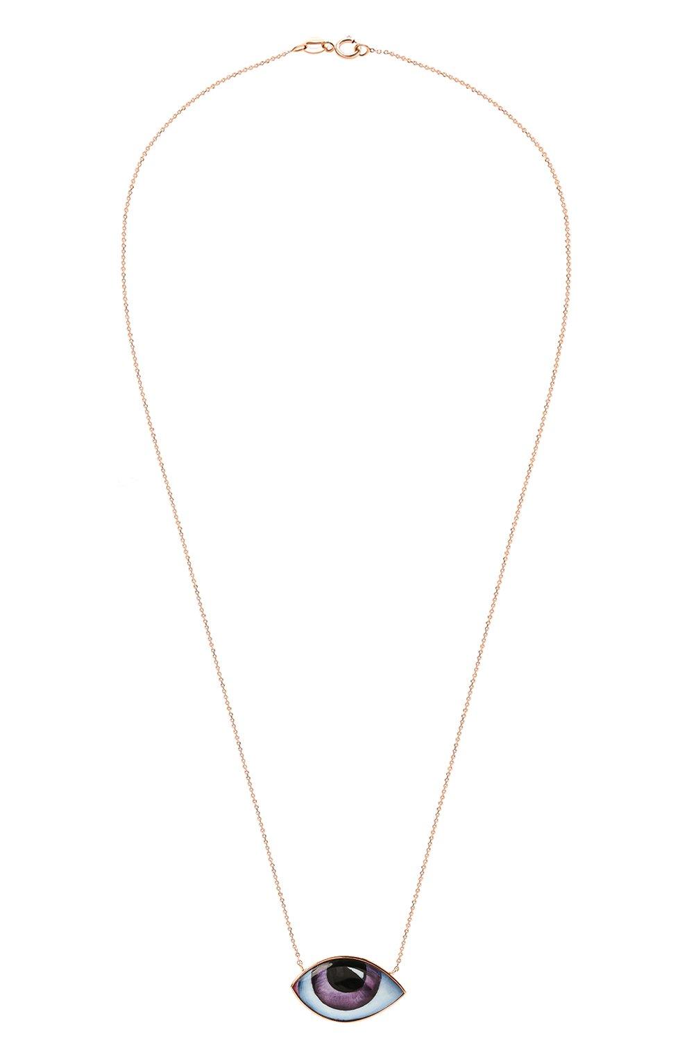 Женские колье LITO бесцветного цвета, арт. N-L-676   Фото 1 (Драгоценные камни: Без драгоценных камней; Материал сплава: Розовое золото)
