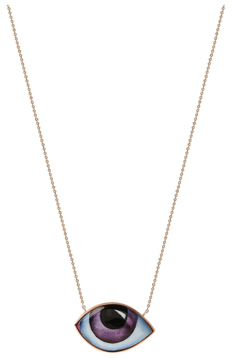 Женские колье LITO бесцветного цвета, арт. N-L-676   Фото 2 (Драгоценные камни: Без драгоценных камней; Материал сплава: Розовое золото)