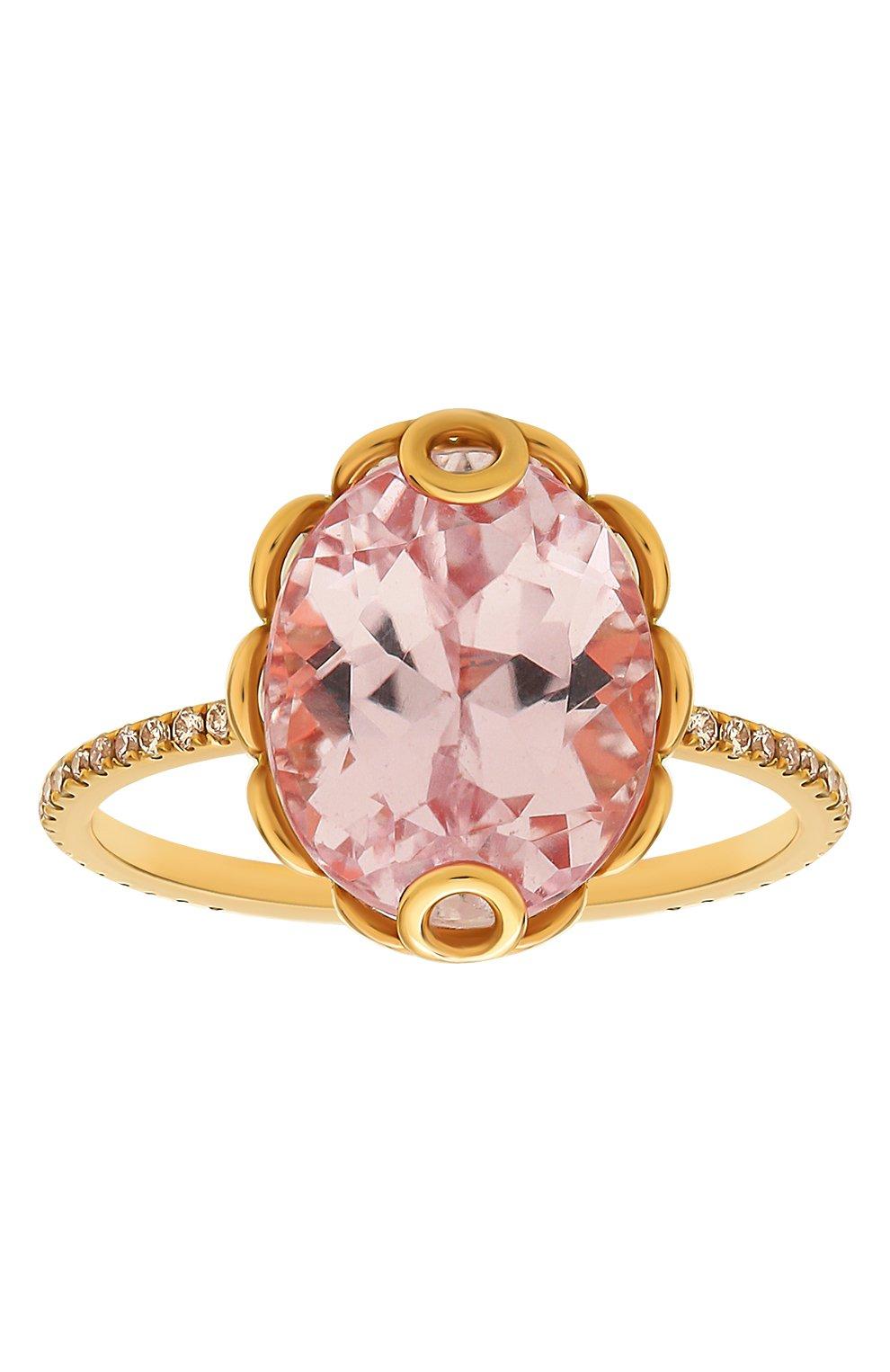 Женские кольцо LITO бесцветного цвета, арт. R-L-084   Фото 2 (Драгоценные камни: Бриллианты, Другие; Материал сплава: Розовое золото)