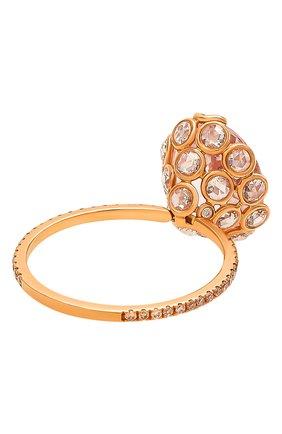 Женские кольцо LITO бесцветного цвета, арт. R-L-084   Фото 3 (Драгоценные камни: Бриллианты, Другие; Материал сплава: Розовое золото)