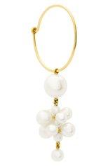 Женские серьга SOPHIE BILLE BRAHE бесцветного цвета, арт. EA30_BOH_FW   Фото 1 (Драгоценные камни: Жемчуг; Материал сплава: Желтое золото)