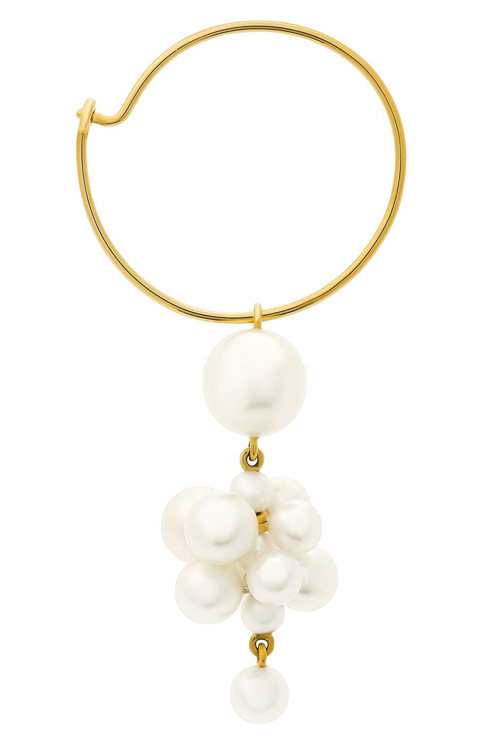 Женские серьга SOPHIE BILLE BRAHE бесцветного цвета, арт. EA30_BOH_FW | Фото 3 (Драгоценные камни: Жемчуг; Материал сплава: Желтое золото)