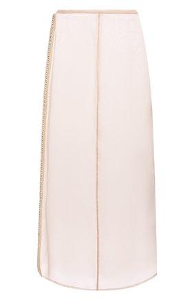 Женская шелковая юбка JIL SANDER розового цвета, арт. JSWS356480-WS282500   Фото 1 (Материал внешний: Шелк; Длина Ж (юбки, платья, шорты): Миди; Стили: Романтичный; Женское Кросс-КТ: Юбка-одежда)