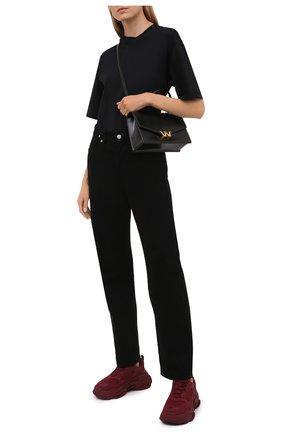 Женские текстильные кроссовки triple s BALENCIAGA бордового цвета, арт. 524039/W2FW1 | Фото 2